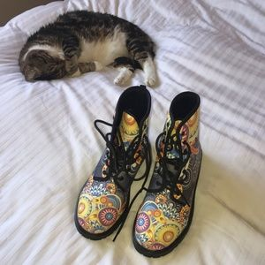 funky combat boots
